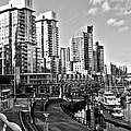 Vancouver Harbour BW Print by Kamil Swiatek