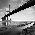 Vasco Da Gama Bridge Iv Print by Nina Papiorek