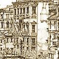 Venice canals detail 1 Print by Lee-Ann Adendorff