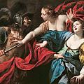 Venus Preventing Her Son Aeneas From Killing Helen Of Troy by Luca Ferrari