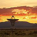 Very Large Array At Sunset by Matt Tilghman