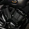 Victory Motorcycle Print by Diane E Berry