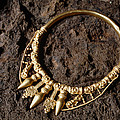 View Of A Golden Celtic Necklace During Excavation by Volker Steger