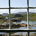 View Of A Harbor Through Window Panes by Pete Ryan