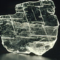 View Of A Sample Of Selenite, A Form Of Gypsum by Kaj R. Svensson