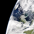 View Of Earth From Space Showing by Stocktrek Images
