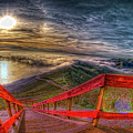 View Of Sun Into Sea At Marin Headlands by Image by Sean Foster