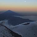 Villarrica, Summit View With Shadow Print by Martin Rietze
