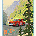 Vintage Austrian Rally Poster by Mitch Frey