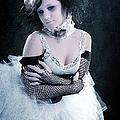 Vintage Portrait Of A Dancer by Cindy Singleton