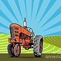 Vintage Tractor Retro by Aloysius Patrimonio