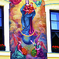 Virgin Mary Mural by Mariola Bitner