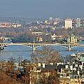 Vltava River In Prague - Tricky Laziness by Christine Till