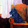 Waiting for Mom - Scottish Terrier Print by Lyn Cook