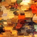 Warm Colors Abstract Print by Carol Groenen