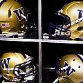 Washington Huskies Football Helmets  by Replay Photos