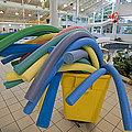 Water Noodles At A Public Swimming Pool by Marlene Ford