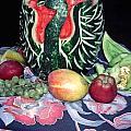 Watermelon Swan by Sally Weigand