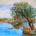 Watson Lake Prescott Arizona Peaceful Waters by Sharon Mick