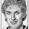 Wayne Gretzky in 1992 Print by J McCombie