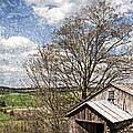 Weathered Hillside Barn Spring by John Stephens