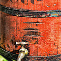 Weathered Red Oil Bucket by Paul Ward