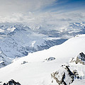 Weissfluhgipfel Summit View From The Summit Across Davos by Andy Smy