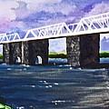 White Bridge   Print by Roberto Edmanson-Harrison