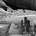 White House Ruin Canyon De Chelly Monochrome by Bob Christopher