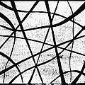 White on Black Print by Hakon Soreide