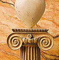White Stone Heart On Pedestal by Garry Gay