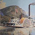 William G Muller Lithograph Towboat Syracuse  by Jake Hartz