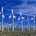 Wind Turbines, California, Usa by David Nunuk
