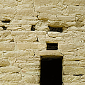 Window Opening in Old Brick Adobe Wall Print by Ned Frisk