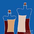 Wine Bottles Print by Frank Tschakert