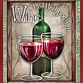 Wine Poetry Print by Sharon Marcella Marston