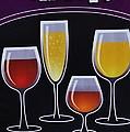 Wine Poster by Marsha Heiken