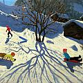 Winter Hillside Morzine France by Andrew Macara