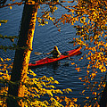Woman Seakayaking On The Potomac River by Skip Brown