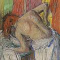 Woman washing her back Print by Edgar Degas