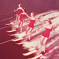 Women Water Skiing Parallel, 1950s by Archive Holdings Inc.