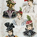 Womens Hat Designs For April, 1897 by Everett