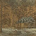 Woodcut Cabin by Jim Finch