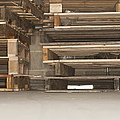 Wooden Pallets Stacked Up Print by Shannon Fagan