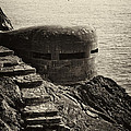 WWII Pill Box Print by Leslie Leda