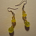 Yellow Ball Drop Earrings by Jenna Green