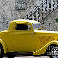 Yellow Coupe Hardtop by Jerry L Barrett