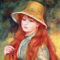 Young Girl With Long Hair by Pierre Auguste Renoir