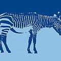 Zebra Silhouette Turquoise Blue