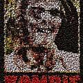 Zombie Bottle Cap Mosaic Print by Paul Van Scott